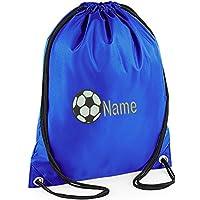 PERSONALISED EMBROIDERED CUSTOM FOOTBALL GYM BAG,Sports,PE,Dance,swim (royal)