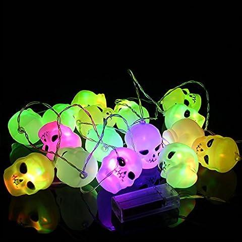 Halloween-Lichter-Schädel-Schnur-Lichter Kürbis-Fee-Schnur-helles Halloween-Dekoration-Licht für (Fun Halloween-kostüme Für Arbeit)