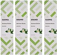 Amazon Brand - Solimo Incense Sticks, Jasmine - 70 sticks/pack (Pack of 4)