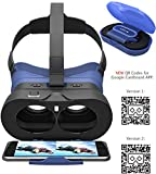 VR-PRIMUS GO - Casque de réalité virtuelle - Réglable, bouton de commande, bandeau, boîte - Pour iOS et Android Smartphones comme l'iPhone, Samsung, HTC, Sony, LG, Huawei, Motorola, ZTE et autres - Compatible avec Google Cardboard Apps - VR Lunettes 3D - Virtual Reality