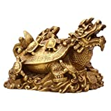 HomeDecTime Statua di Tartaruga Moneta Ornamenti di Rospo in Stile Cinese Fengshui per Negozi - Dragon Turtle