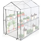 Jago – Invernadero con cubierta para jardín, terraza, balcón o patio – tamaño (L/An/Alt) aprox. 191/120/190 cm - modelo a elegir