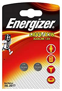 Energizer 2 Piles Miniatures Alcalines LR44/A76 1,5 V
