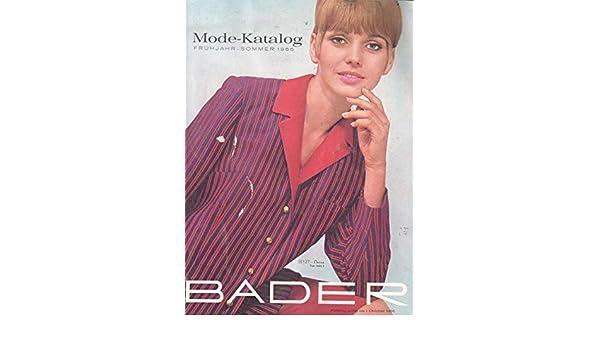 b7efb099e59592 Bader Mode-Katalog Frühjahr-Sommer 1966  Amazon.de  Bader  Bücher