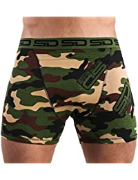 Smuggling Duds Jungle Camo Camouflage Boxer Brief Shorts