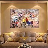 decorazione natalizia Frameless artigianato arte parete decorazione tela pittorica , 60*90cnm - HJ-HOME - amazon.it