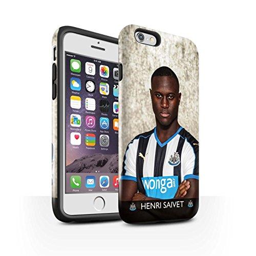 Offiziell Newcastle United FC Hülle / Glanz Harten Stoßfest Case für Apple iPhone 6 / Pack 25pcs Muster / NUFC Fussballspieler 15/16 Kollektion Saivet