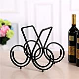 Einfache Mode kreative europäischen Eisen Weinregal schwarz drei Flaschen Wein Kapazität praktischen Hause / Restaurant / Hotel / Club 31 * 16 * 26CM