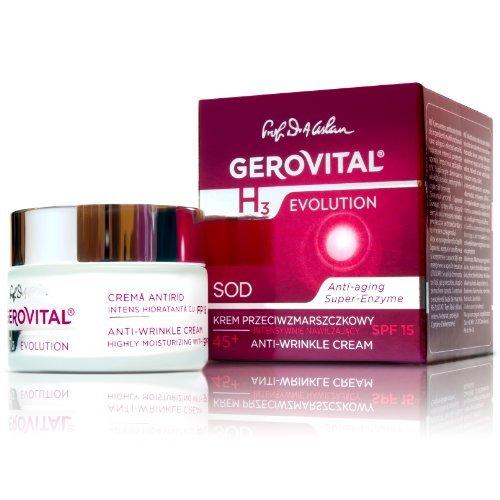 Preisvergleich Produktbild GEROVITAL H3 EVOLUTION, Anti-Wrinkle Cream Highly Moisturizing With Superoxide Dismutase (The Anti-Aging Super Enzyme) 45+
