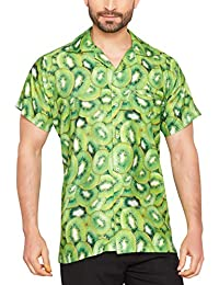 67150d0a38 CLUB CUBANA Men s Regular Fit Classic Short Sleeve Casual Floral Hawaiian  Shirt