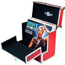 Retro Musique - Caja de almacenamiento para discos de vinilo de 12 pulgadas con solapa frontal