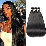 FASHION QUEEN Hair Brazilian Straight hair 3 Bundles, 7A Grade Unprocessed Virgin Human