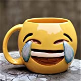 #10: Weird Wolf Tears of Joy Coffee Mug (Emoji Series Edition)