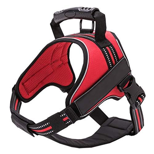 Pet Vest Harness no Pull Hundegeschirr mit verstellbarem Sicherheitsgurt for die Reise und den täglichen Gebrauch Atmungsaktives Multifunktionsgewebe (rot) (Size : S) -