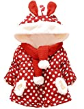 Little Sorrel Baby Mädchen Winter Jacke Dot Bedruckt Mänte Kinder jacken mit ohren 0-3 Jahre