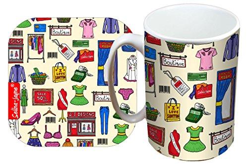 Selina-Jayne shopping édition limitée concepteurMug et ensemble de montagnes russes