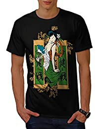 Wellcoda Japanese Art Cool Mens Long Sleeve T-shirt Legend Graphic Design