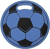 Fan-O-Menal Schaumstoff-Sitzkissen Fussball blau - 39970/1 Gr. ca. Ø 32 cm