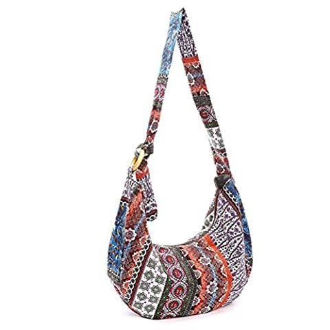 LUOEM Thai Hobo Crossbody Bag Shoulder Bag Messenger Bag Hippie Boho Bohemian Purse