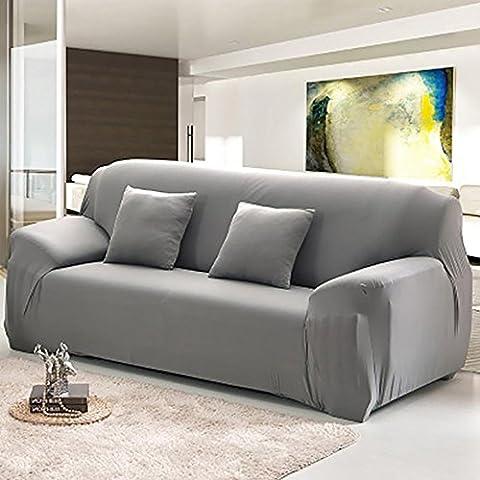 INMOZATA 4plazas funda para sofá Protector de tejido elástico suave sofá lavable, fácil de montar (negro)