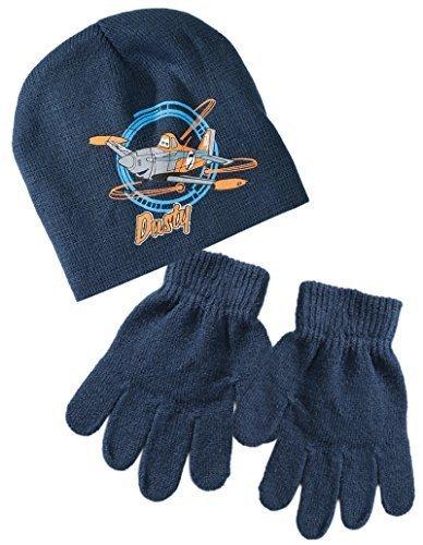 Bonnet et gants enfant garçon Dusty Planes Marine T54