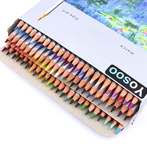 Yosoo 72 Farben Buntstifte Farbstifte Set Kunst Zeichnung Bleistifte Stifteset