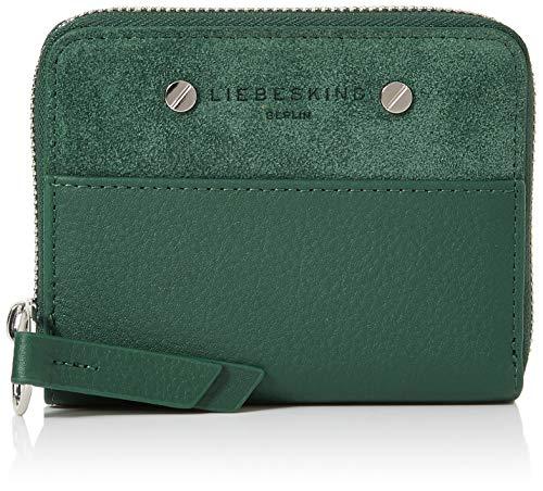 Liebeskind Berlin Damen Ring Lock 2 Slg Conny Wallet Medium Geldbörse, Grün (Dark Green), 2.0x10.0x13.0 cm -
