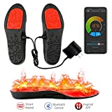 LEHU Smart Electric Chaussures chauffantes Semelles Pieds Warmers APP télécommande Bluetooth avec Batterie Rechargeable alimenté pour la Chasse pêche randonnée Camping