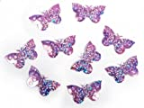 SiDeSo® Konfetti Streudeko Babyparty Kinder Geburt Geburtstag (15g Holo Lila Schmetterlinge)