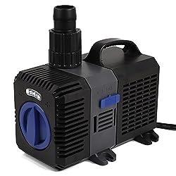 [mia.home®] SuperECO Filterpumpe Teichpumpe Energiespar Wasserpumpe Koiteich Bachlaufpumpe (3000L/H,3600L/H,4500L/H,5200L/H,8000L/H,10000L/H) (4500L/H)