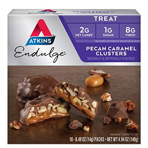 Atkins**Pecan Caramel Clusters**Snack Treat**5x 28g**(120cal) Nuss Karamell - Atkins Karamell