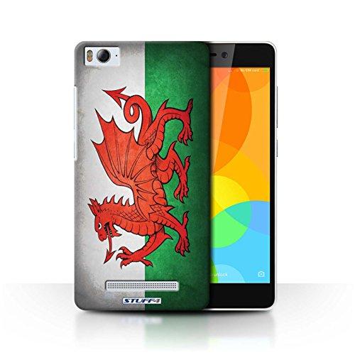 Stuff4® Hülle/Case für Xiaomi Mi 4i / Wales/Wallisische Muster/Flagge Kollektion