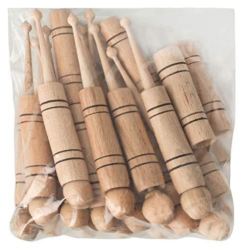 DESERMO Klöppel im 20er Beutel (10x 2er Set) aus Holz - traditionelles Handwerk Klöppeln - Hülsenklöppel -