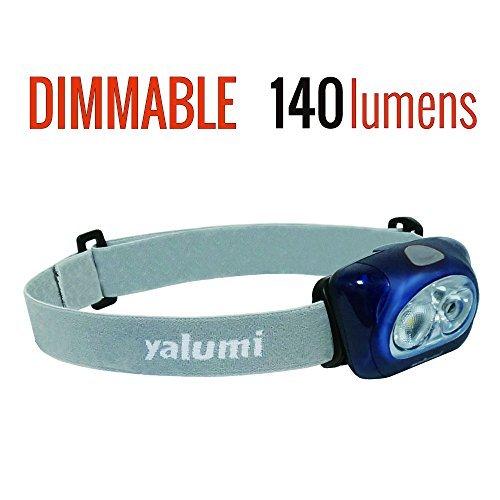 Yalumi LED Scheinwerfer Spark Professional 120-lumen Flutlicht/90-lumen Strahler Weiß/Rot Night Vision, Elektronische Breit/Schmal Abstrahlwinkel zu Schalten, Weniger als 2,8oz, Blau/Grau Professional Night Vision