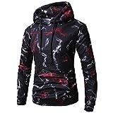 Kapuzenpullover Sunnyadrain Herren Hoodie Muster Casual Plus Größe Geschäft Pullover Winter Warm Sweatshirt Outwear Top Langarm