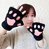 ZHANGYUGEGE  Mode Winter Frauen Plüsch Handschuhe Cute Bear Cat Claw