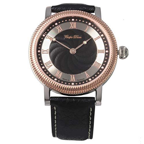 u7816eb Carpe Diem - Archimedes Black - auf 150 Stück Limitierte Edition - vollmechanische Herren-Armbanduhr Made in Germany