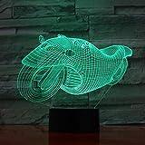 LWJZQT Nachtlicht 3D Lampe Motorrad Fahrrad Motorrad Weihnachtsbeleuchtung Acryl Illusion 7 Farben Touch Für Freunde Kinder Geburtstagsgeschenk Spielzeug