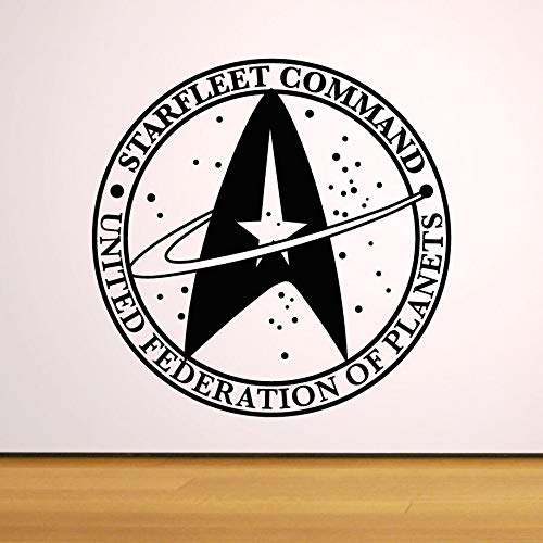 57x57 cm Star Trek Symbol Wand Aufkleber Star Fleet Command Logo Vinyl Aufkleber Raum Thema Kinderzimmer Dekor Star Trek Federation Poster