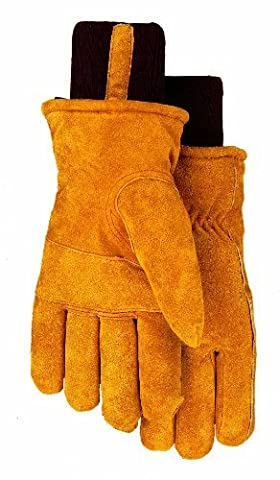 Thermolite Lined Suede Cowhide Leather Work Gloves, 450TL, Size: Extra Large by Midwest Gloves & Gear