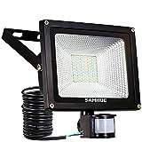30W LED Strahler Scheinwerfer fluter Licht Floodlight Außenstrahler SAMHUE Wandstrahler Schwarz Aluminium IP65 Wasserdicht AC 85 - 265V Tageslichtweiß