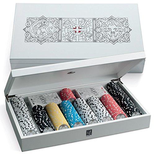Juego Cofanetto Carte Poker con Fiches, Colore Albus Grifone, JU00082