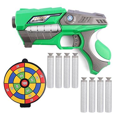 BOROK Kinder Schaumstoff Spielzeugblaster Miniblaster Spielzeugpistole mit Darts Pfeile für Nerf