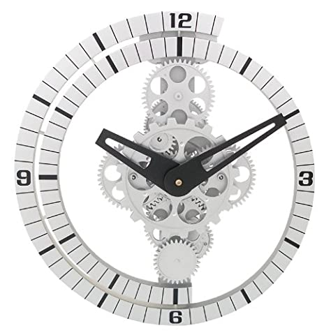 Unusual cogs moving gear wall/stand clock gcl06-37 by DynaSun