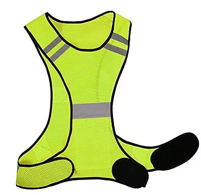 Reflektierende Weste Laufweste Herren Damen Running Warnweste Sicherheitsweste Neon Gelb Kinder Prowiste® Funktionsweste