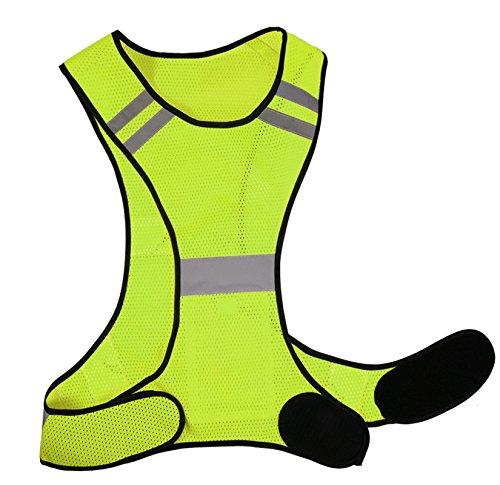 Laufweste - Reflektierende Weste für Joggen, Fahrrad | Atmungsaktiv & Leicht | Warnweste für Damen Herren