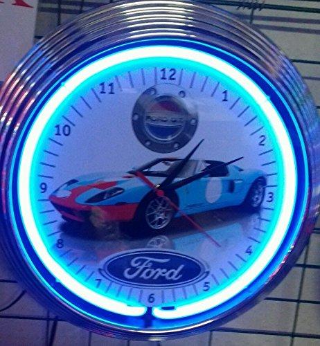 neon-orologio-2006-ford-gt-sign-orologio-da-parete-usa-50-s-style-neon-colore-blu