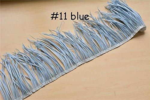 Kostüm Macht Elf - 51Farben Choices Gans Biot Federn für Mode Hüte Borte Fascinator Craft Dekorieren Dancing Kostüm macht 50 cm Blue #11