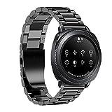 Javpoo Ersatz-Bands kompatibel Samsung Gear Sport, Edelstahl Schnellspanner Watch Band Gurt Zubehör kompatibel Samsung Gear Sport Smartwatch Bands
