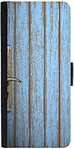 Snoogg Old Wooden Door Designer Protective Phone Flip Case Cover For Samsung Galaxy J2